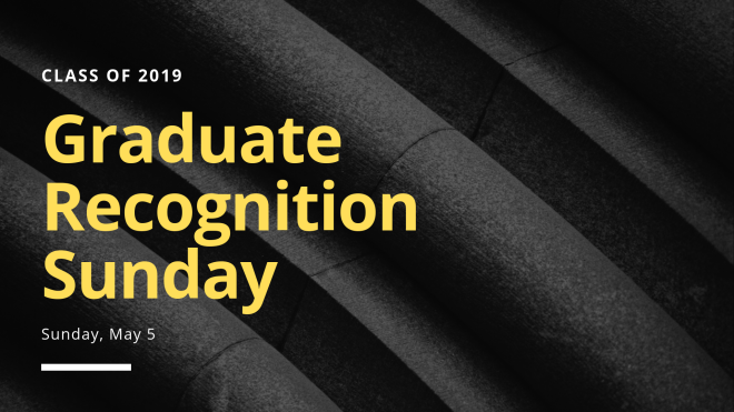 Graduate Recognition Sunday 2019