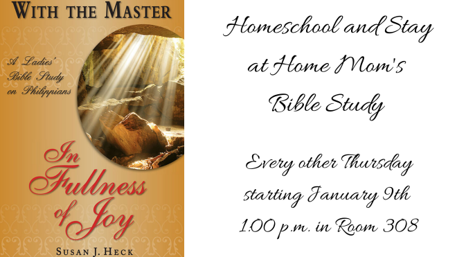 Homeschool Mom/Stay at Home Mom's Bible Study