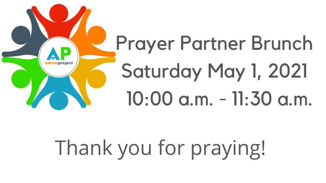 Aaron Project Prayer Partner Brunch